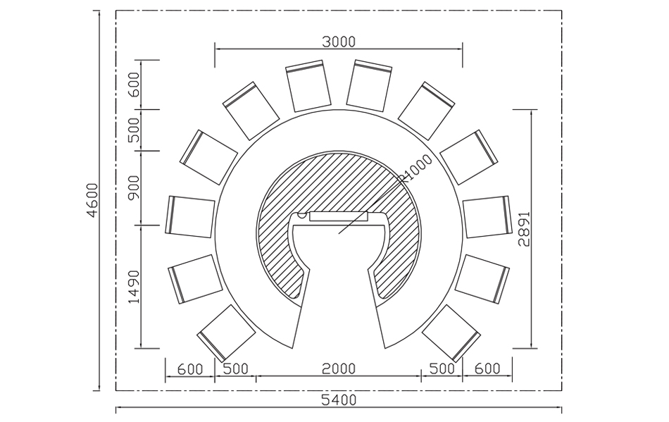 圆形铁板烧CAD磁盘图|产品规格CAD全图|上海cad图纸插入,打开规格v圆形图片